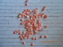 кабошон РОЗОВЫЙ ПЕРЛАМУТР  диаметр 10 мм материал пластик упаковка 10 шт