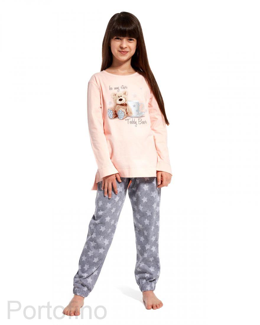 781-84 Пижама для девочек с длинным рукавом Cornette