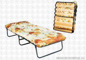 раскладная кровать с ортопедическим основанием и ватным матрасом КТР-2ЛМ