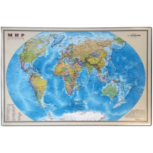 """""""Карта мира"""", 38x59 см - покрытие для стола по методике П.В. Тюленева"""