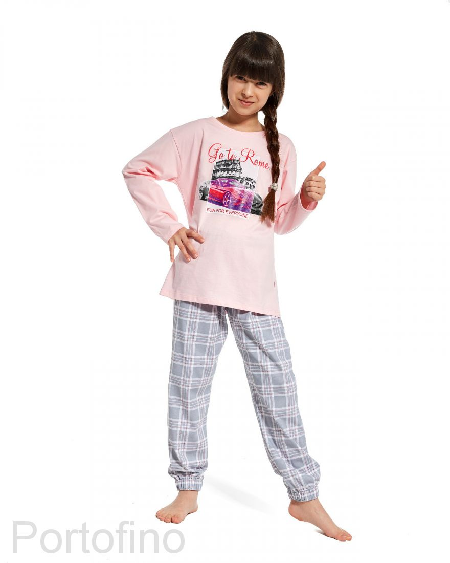 540-81 Пижама для девочки дл.рукав Cornette