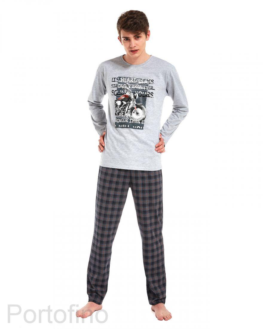 553-26 Пижама для подростка длинный рукав Cornette