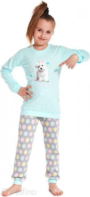 594-75 Пижама для девочки дл.рукав Cornette