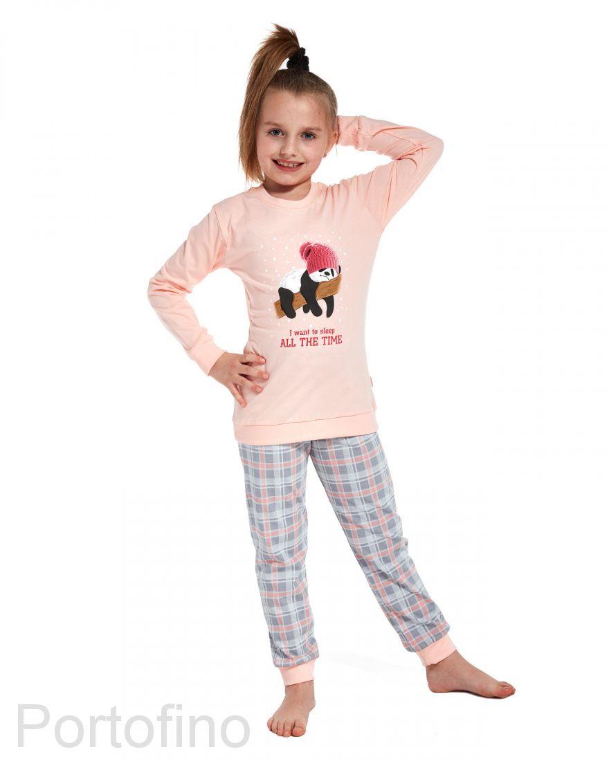 594-77 Пижама для девочки длинный рукав Cornette