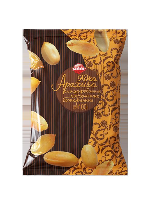 Ядра ореха арахиса соленые 100гр