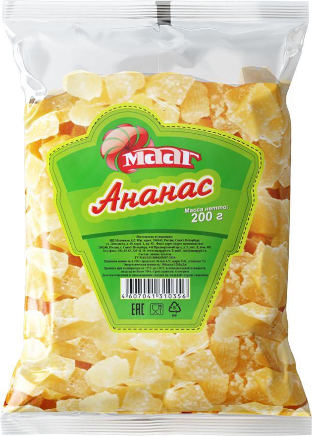 Ананас цукаты 200гр