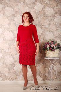 Платье Модница (вино)