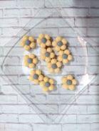 кабошон ЦВЕТОЧЕК ЖЕЛТЫЙ/ СЕРЫЙ размер 20 мм