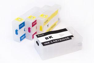Перезаправляемые картриджи для Canon Maxify MB2040, MB2140, MB2340, MB2740 (PGI-1400XL - 4 шт.) с чипами