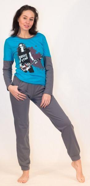 Спортивный женский костюм Метро Efri-Sk49 (хлопок)