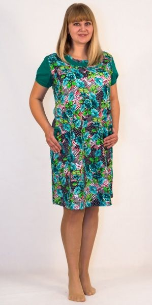 Платье женское Цветы Efri-St21 (хлопок)