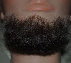 Борода средняя темная
