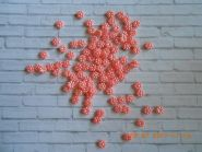 кабошон  ЦВЕТОК РОЗОВЫЙ ПЕРЛАМУТР  диаметр 10 мм материал пластик упаковка 10 шт