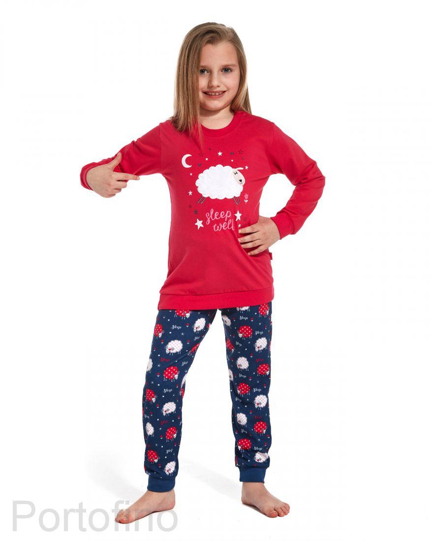 977-85 Пижама для девочек с длинным рукавом Cornette