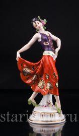 Танцующая девушка, Volkstedt, Германия, до 1935 г., артикул 03106