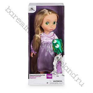 Кукла рапунцель в детстве с хамелионом 40 см