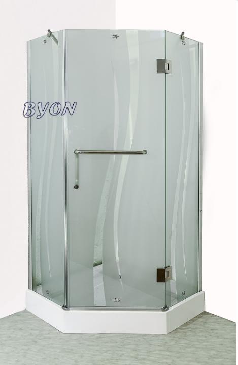 Душевой уголок с поддоном BYON G-06  TRAPEZEN 90x90x195