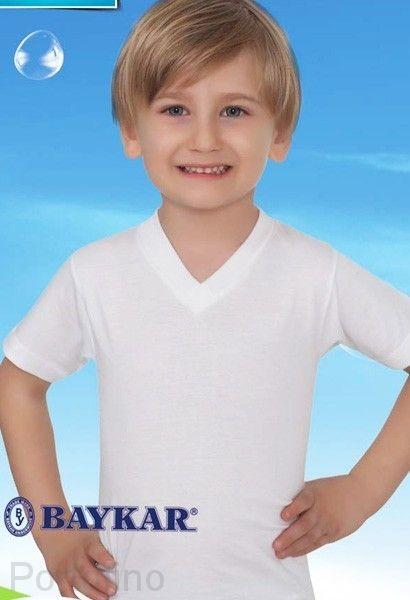 Футболка белая для мальчиков арт 2215 Baykar