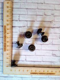 ручка металлическая (для шкатулок, мини комодов, ключниц..) размеры 17*15 мм цвет БРОНЗА