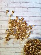 люверсы 4,8 мм цвет ЗОЛОТО материал мягкий металл ( с насечками) упаковка   10 шт