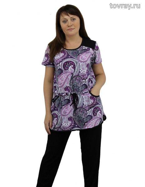 Туника женская Соня на кулисе с карманами Efri St26 (SF)