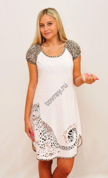 Ночная сорочка с коротким рукавом Леопард Efri 67