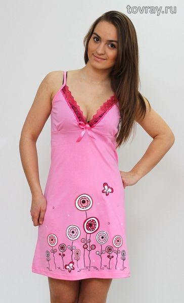 Ночная сорочка Цветы Efri Си-45 (Sib)