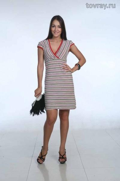 Платье женское на запахе Глория Efri 229 P (MD)