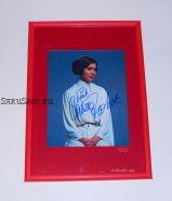 Автограф: Кэрри Фишер. Звёздные войны. Редкость!