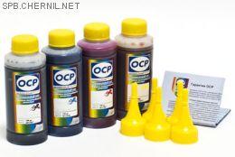 Комплект чернил OCP для HP #123 (BKP 225, С/M/Y 163), 100 g x4